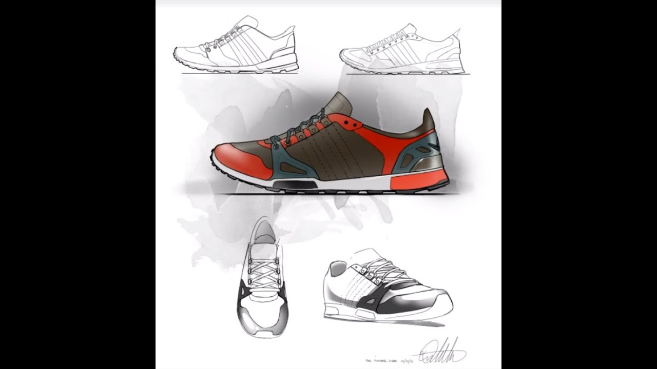 footwear design sketch amp layout demo youtube