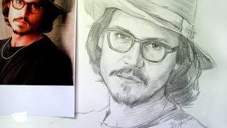 Уроки рисования карандашом,  уроки рисования карандашом портрет(Уроки рисования карандашом для начинающих. Рисуем актера Джонни Деппа по фотографии в легкой тональной..., 2016-06-14T13:42:48.000Z)
