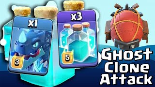 3 Clone Spell With NEW Ghost Electro Dragon LavaLoon TH12 War Attack | Clash of Clans