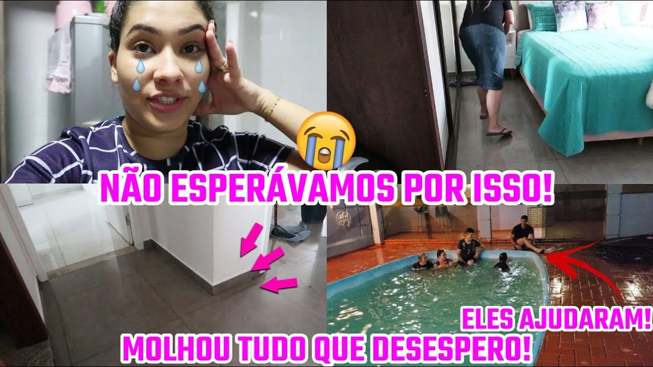 ALAGOU NOSSA CASA!! QUE DESESPERO! ELES AJUDARAM! + FIM DE NOITE COM ELES| Juliane Jocoski