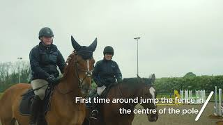 Training - How to jump a corner fence