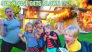 Our House Got Blown Up! Suspenseful Escape From Danger! / The Beach House