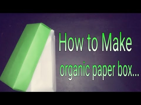 How to make organic paper box...|| Easy Crafts