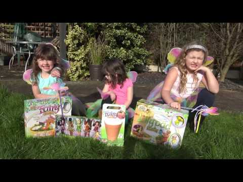 Real Fairies in Our Garden! FUN with the Disney Fairies | The Disney Toy Collector