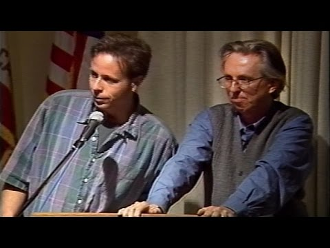 1994 Tom Tomorrow and Bill Griffith at San Francisco Public Library