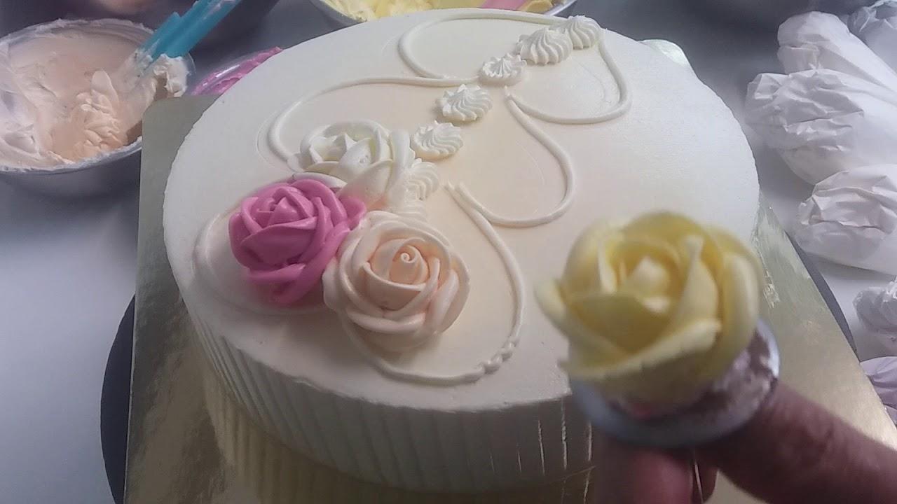Of birthday rose cake
