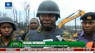 Nigerian Navy Uncovers Illegal Refineries In Iyalam, Rivers State