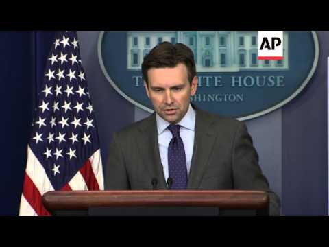 White House press secretary Josh Earnest says President Barack Obama is consulting with lawmakers, p