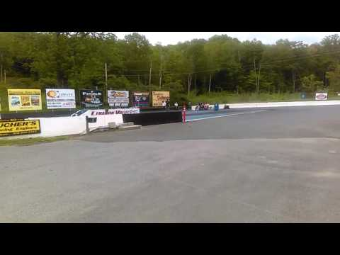 Nitro top fuel drag bike Lebanon Valley Speedway