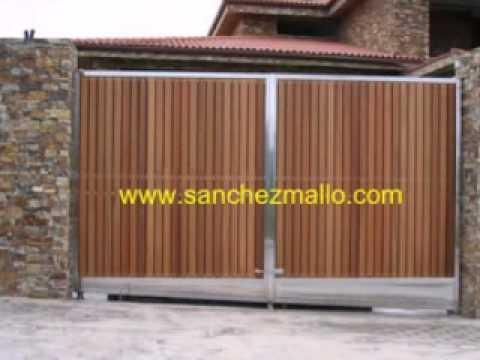 Portal de acero inoxidable y madera - Portales de madera ...