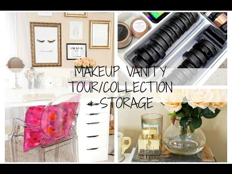 Makeup Collection/Vanity Tour + Storage 2015 | Chelsea Hernandez