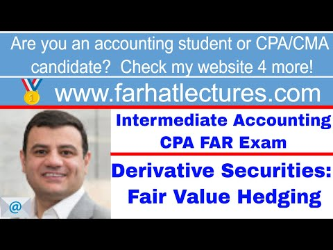 Accounting for derivative instruments fair value hedge intermediate accounting CPA exam ch 17