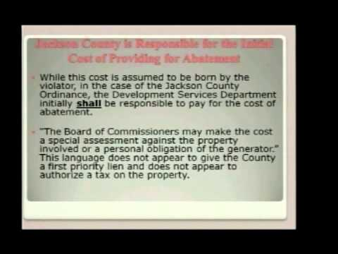 Projected Costs to Jackson County for Implementation of Local Measure 15-119
