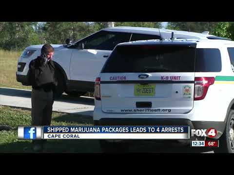 Shipped Marijuana Packages Lead to 4 Arrest