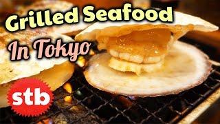 Japanese Food Tour: Hamayaki // Japanese Seafood in Tokyo