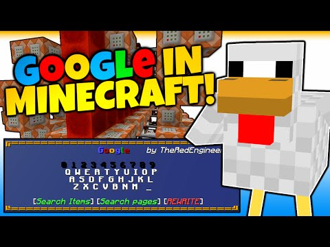 Minecraft | GOOGLE SEARCH IN MINECRAFT! | SEARCH GOOGLE | NO MODS! (Minecraft Redstone)