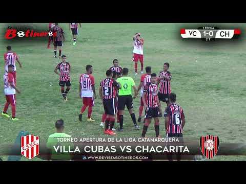 LIGA CATAMARQUEÑA, Villa Cubas 1 vs 0 Chacarita