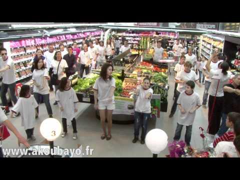 Flashmob à cours-la-ville intermarché