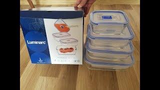 Обзор прямоугольных контейнеров Luminarc Pure Box Active