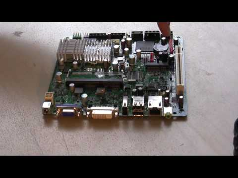 Intel D945GSEJT Motherboard with a Solid State Drive