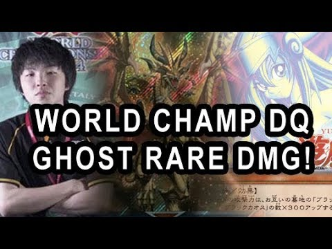 YUGIOH WORLD CHAMP PLAYER DISQUALIFIED! GHOST RARE DARK MAGICIAN GIRL! WORLD PRIZE CARDS
