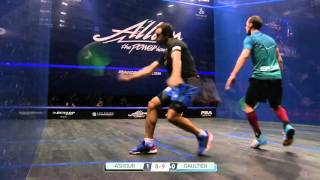 QuickHit: ABSOLUTELY BRUTAL RALLY - Ramy Ashour & Gregory Gaultier