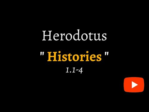 Herodotus, Histories 1.1-4 (reconstructed ancient Greek)