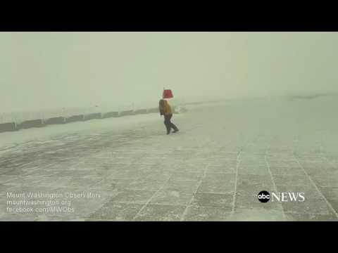 Extreme winds in New Hampshire's Mount Washington Observatory | firefighting