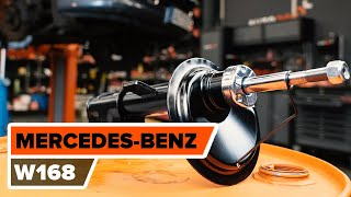 How to change front shock absorbers on MERCEDES-BENZ A W168 TUTORIAL | AUTODOC