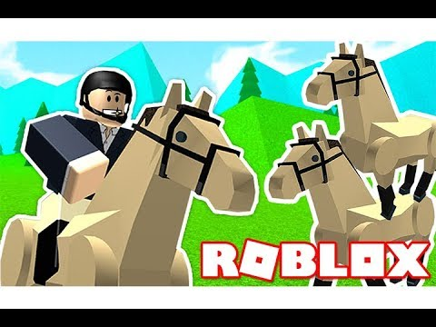 أول مرة اركب حصان عربي اصيل فى لعبة roblox !!🐎