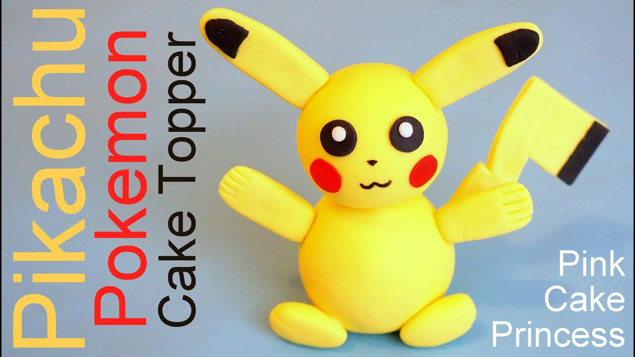 Pokémon Go Pikachu Cake Topper How to by Pink Cake Princess - YouTube