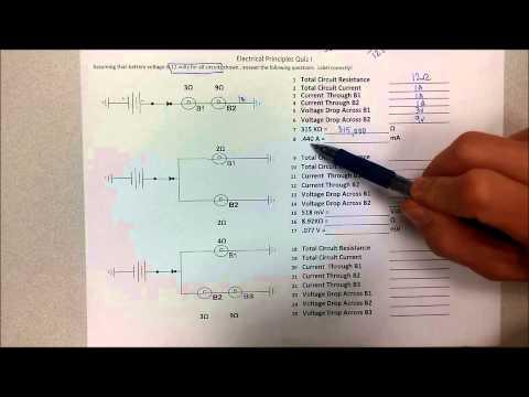 Electrical Principles (Ohm's Law) Quiz Tutorial