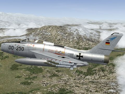 West German Luftwaffe 'Invades' East Germany 1961
