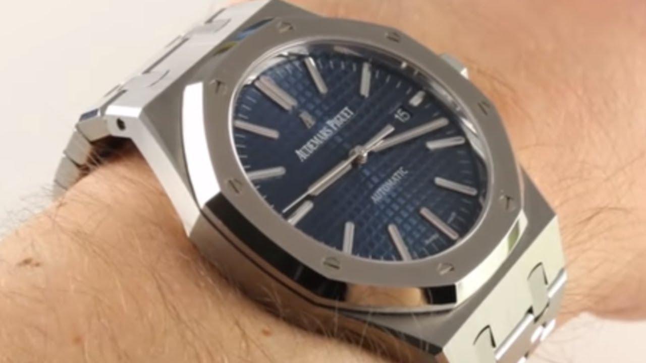 28ce5118d Audemars Piguet Royal Oak Blue Dial 15400ST Luxury Watch Review ...