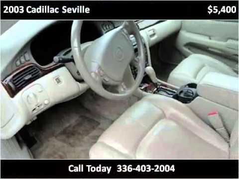 2003 cadillac seville used cars winston salem nc youtube. Black Bedroom Furniture Sets. Home Design Ideas