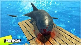SHARK ATTACK SURVIVAL SIMULATOR? (Raft #1)