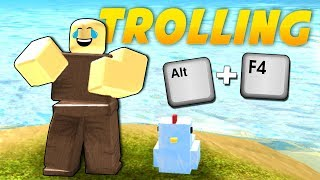 TROLLING PLAYERS ON BOOGA BOOGA (Alt + F4) | Roblox