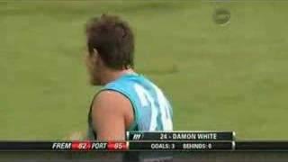 AFL - Steven Dodd steps on Damon Whites Toe