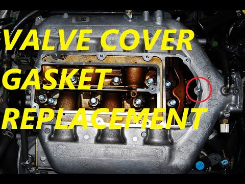 ACURA TL V6 J-SERIES VALVE COVER GASKET REPLACEMENT!
