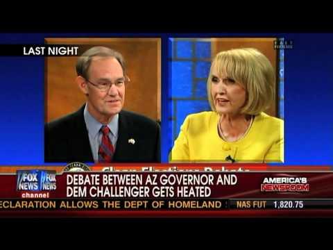 Fox News Hides Arizona Gov. Jan Brewer's Debate Meltdown?