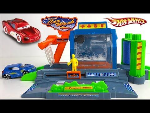 Fast Lane Mini Car Wash Playset Disney Cars Hotwheels Matchbox