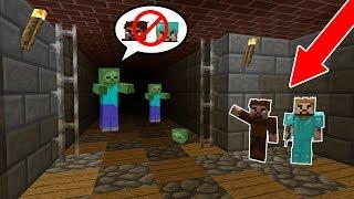 ZENGİN VE FAKİR ZOMBİLERDEN SAKLANIYOR! 😱 - Minecraft