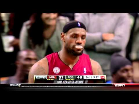 LeBron James Dunk On Jason Terry -  Heat @ Celtics 3/18/2013