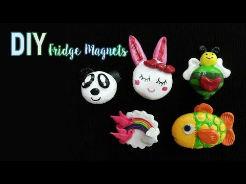 DIY Fridge Magnet by Aafreen  | How to make Fridge Magnets using Yenji Toy Clay | Craftziners # 20