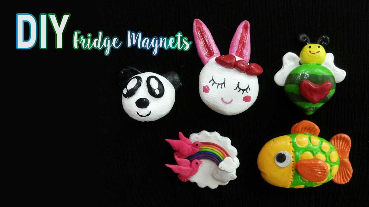diy fridge magnet by aafreen how to make fridge magnets using