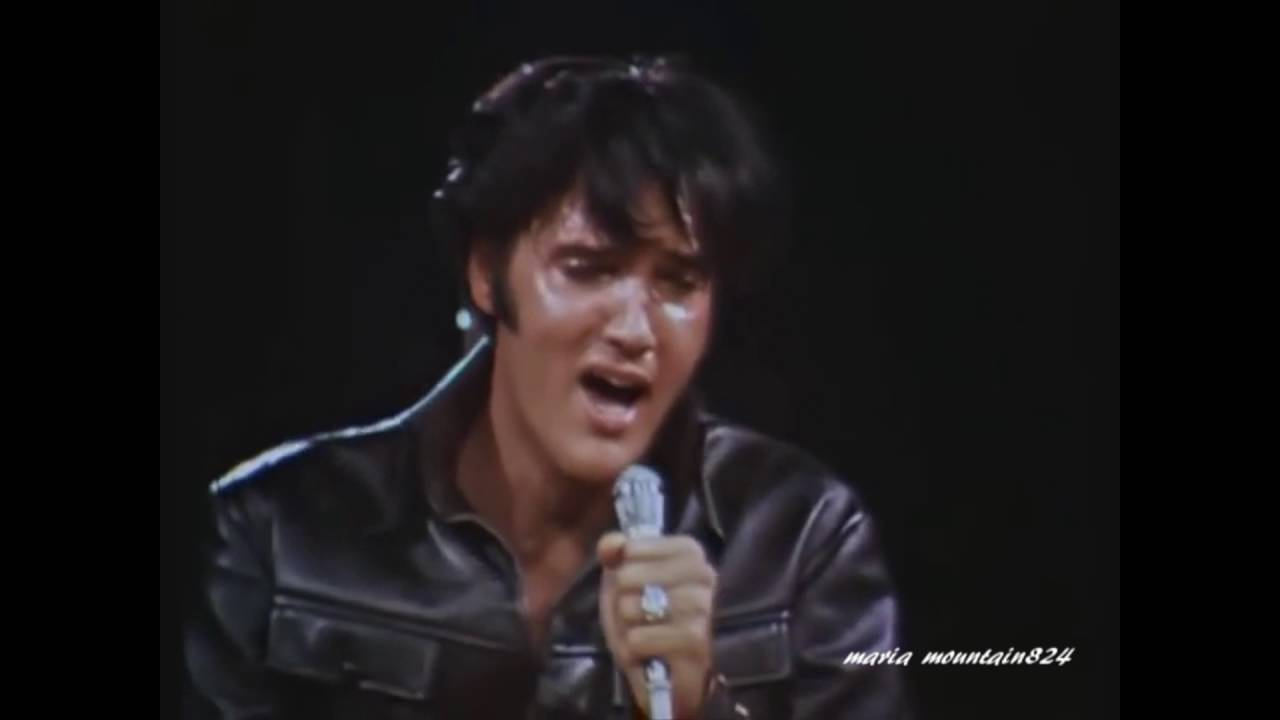 Elvis Presley - If I Can Dream ( Black Leather suit) [ CC ]  sc 1 st  YouTube & Elvis Presley - If I Can Dream ( Black Leather suit) [ CC ] - YouTube