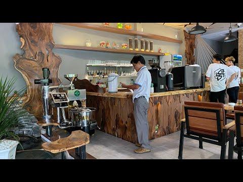 Quán cà phê pha máy Nét Việt Cafe sử dụng Máy rang cà phê Rio 3 Full