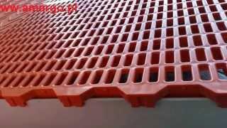 Budowa podłogi uniesionej kratownica biofiltrów kraty ruszty ażurowe pełne odporne chemicznie