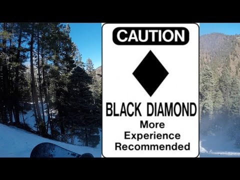 GOING DOWN A BLACK DIAMOND AS A BEGINNER