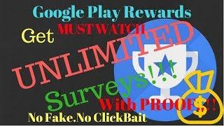 Google Play Rewards App Hack! Get More Surveys Fastly!!!With Proof.